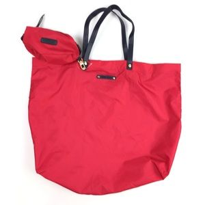 Mango Touch Red Folding Travel Tote Bag